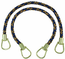 "Navy Taupe 18"" Rope Tiebacks Captains Pride [Pair Of]"