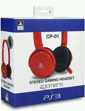 4 Gamers PS3 oficialmente licenciado Gaming Headset Stereo CP-01 Rojo
