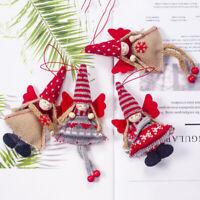 Xmas Tree Home Angel Drop Ornament Christmas Decor Plush Doll Hanging Gifts US