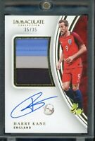 Harry Kane 2017 Immaculate RC RPA 3 colour Patch On-Card Auto 35/35 England