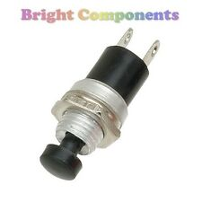 2 x Miniature Momentary Push Button Switch - Black - UK - 1st CLASS POST
