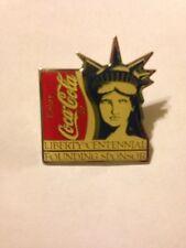 COCA COLA LIBERTY CENTENNIAL FOUNDING SPONSOR PIN