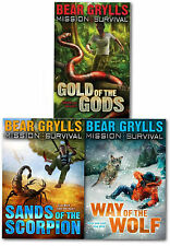 Mission Survival Collection Bear Grylls 3 Books (Vol1-3) Set Childrens Gift Pack