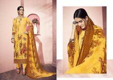 Sale Embroidery Cotton Stitched indian designer anarkali Churidhar suit~Bust 40M