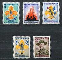 37310) GUATEMALA 1966 MNH** Scouts 5v  Scott# C328/32