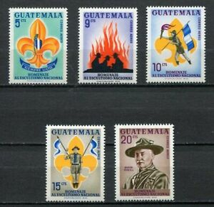 37310) Guatemala 1966 MNH Scouts 5v Scott # C328/32