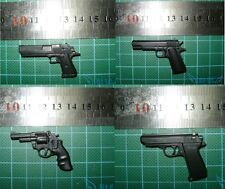 Set of 4 1/6 Scale Hot pistol hand gun M29 Smith PPK M1911A1 Desert Eagle Toys