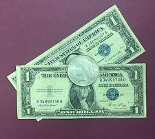 1935, 1957 Silver Certificate & 1922-1935 PEACE SILVER DOLLAR VG-AU 90% SILVER!