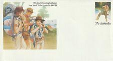 1987-88 Australia stationery cover 16th World Scouting Jamboree NSW