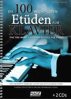 Klavier Noten : Die 100 wichtigsten Etüden für Klavier - leicht - mittelschwer