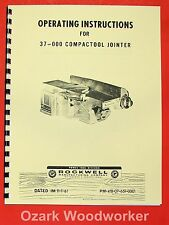 ROCKWELL 37-000 Compactool Jointer Parts Manual 0604
