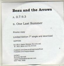 (BR622) Beau And The Arrows, 0 7 9 3 / One Last Summer  - DJ CD