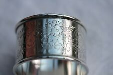 2 Antique solid silver napkin rings, Birmingham and Sheffield 1901, 61gms.