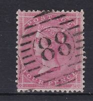 BD329) Great Britain 1855 4d Small Garter, white paper, SG62b Very Fine Used