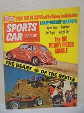 1/1968 SPORTS CAR GRAPHIC magazine VW BEETLE