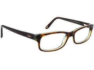 Ray Ban Eyeglasses RB 5187 2445 Tortoise/Green Rectangular Frame 50[]16 140