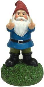 """Gnometastic The Original Double Bird Garden Gnome Statue, 8.45"""" Tall - Funny"""