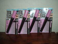 4 New Cover Girl Total Tease Full+Long+Refined Waterproof Mascara Very Black 825