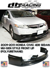 MU-GEN V3 Style Front Lip (Urethane) Fits 09-11 Civic 4dr Sedan JDM VTEC