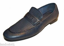 Fabi Men's Navy Dark Blue Loafers Casual Dress Logo Italy Shoes Sz US 12 EU 45