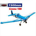 Dynam Cessna 188 Blue 1500mm Wingspan W/Gyro -  SRTF