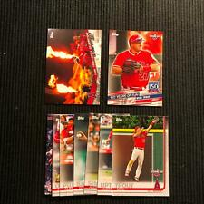 2019 TOPPS OPENING DAY LOS ANGELES ANGELS MASTER TEAM SET  9 CARDS  MIKE TROUT +
