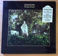 "UFO,HEADSTONES,THE BEST OF UFO,VINTAGE 1983 DOUBLE ALBUM,12"" LP 33 VINYL.EX,VG+"