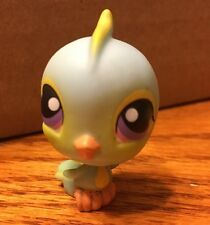 😄LITTLEST PET SHOP #123 BLUE PARAKEET BIRD