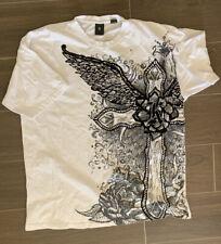 Kani Gold White Graphic Short Sleeve Mens Shirt Sixe 3X