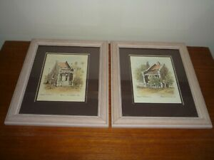 PAIR OF ARCHITECTURE WATERCOLOURS TITLED & SIGNED BRIAN McGUFFIE & DATED 1989