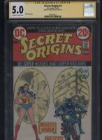Secret Origins #3 CGC 5.0 SS Irwin Hasen 1973 WILDCAT Wonder Woman