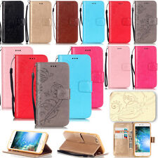 -YPYB Embossing Leather Flip Case Cover For Apple iPhone 7 6S 6 Plus 5S 4S Touch