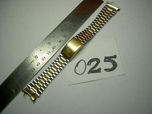 Vtg 19 Cu Lug SEIKO SQ Z357 Japan Oyster 80era Steel Two Tone Men Watch BAND8223