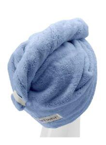 Turbie Twist Towel Original 100% COTTON ONE Hair Towel Blue Color New In Bag