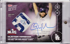 2016 Topps NOW 579-E Clayton Kershaw Autograph Game Used Base 22 /25 AUTO 1/1