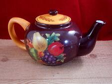 Certified International Ceramic Tea Pot Kettle Grape Apple 6 cups Brown C7