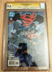 Superman Batman #10 CGC 9.6 Signed signature ss Jim Lee comic cover Wonder Woman