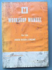 ISUZU DIESEL DH-100 SERIES  ENGINE FACTORY WORKSHOP MANUAL 1983
