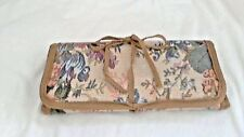 "Tapestry Fabric Tri Fold Cosmetic/Jewel Case, 4.5"" x 9"" folded, vinyl inside"