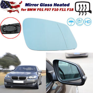 Right Passenger Side Mirror Glass Heated for BMW  5 6 7 Series 528i 535i 550i