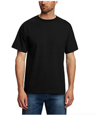 HANES 'BEEFY' TWIN-PACK T-SHIRTS/Black - XL