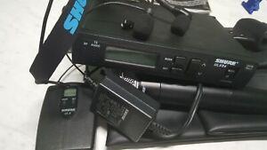 shure ulx wireless microphone set ulxs4 sm58 ulx1-j1 wh30