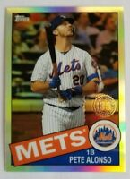 PETE ALONSO 2020 Topps Chrome Refractor 1985 35th Anniversary Card# 85TC-18