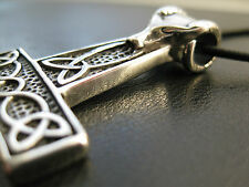 Widderkopf Flach! Thor s Hammer Anhänger Edelstahl Wikinger Mjölnir / ES 410
