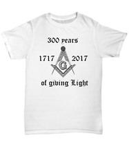 Masonic shirt - 300 Years of Freemasonry - Freemason symbol anniversary apparel