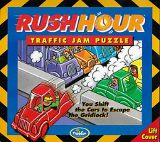Rush Hour Traffic Jam Puzzle Board Game Thinkfun 2003 OOP Counted 100% Complete