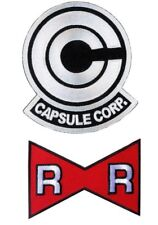White Dragon Ball Z Capsule Corp. +  Red Ribbon Mark Patch set of 2