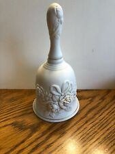 "Vintage bisque porcelain Remembrance bell by Creative Circle 6"" 1980s"