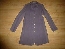 Women's Lana Cacao Long Sleeve Classic Collar Button Up Linen Dress Size S UK 8