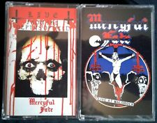 MERCYFUL FATE Lot (2/2) 2 Rare CASSETTES Live From The Depths Of Hell +WALDROCK